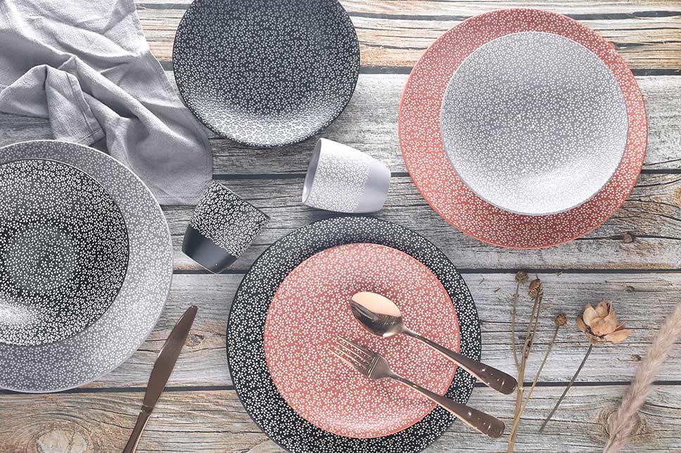 Tableware set 16 pieces Pad printing sakura1